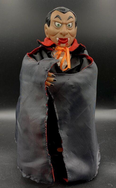 "VNT Telco Dracula Vampire  Motionett Animated Talking Halloween 11"" Figure Rare"