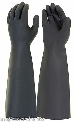 - Black Latex Gauntlets 18