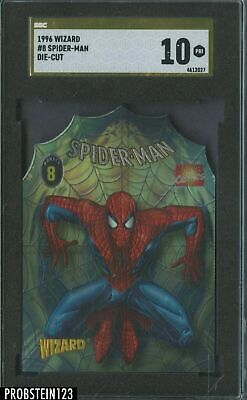 ✨ SGC 10 1996 WIZARD AMAZING SPIDERMAN DIE-CUT MOVIE COMIC CHROME CARD 8 1 VENOM