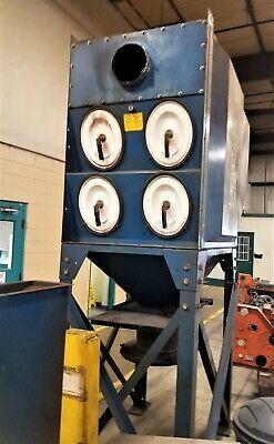 Torit Donaldson Dfo2-8 Downflo Dust Collector W8x Oval Cartridges 5 Hp Fan