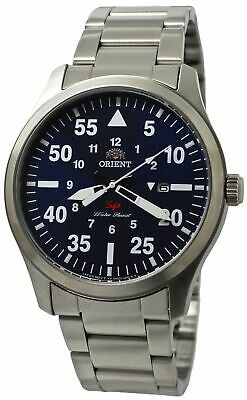Orient Flight FUNG2001D0 Blue Dial Stainless Steel Men's Sporty Watch