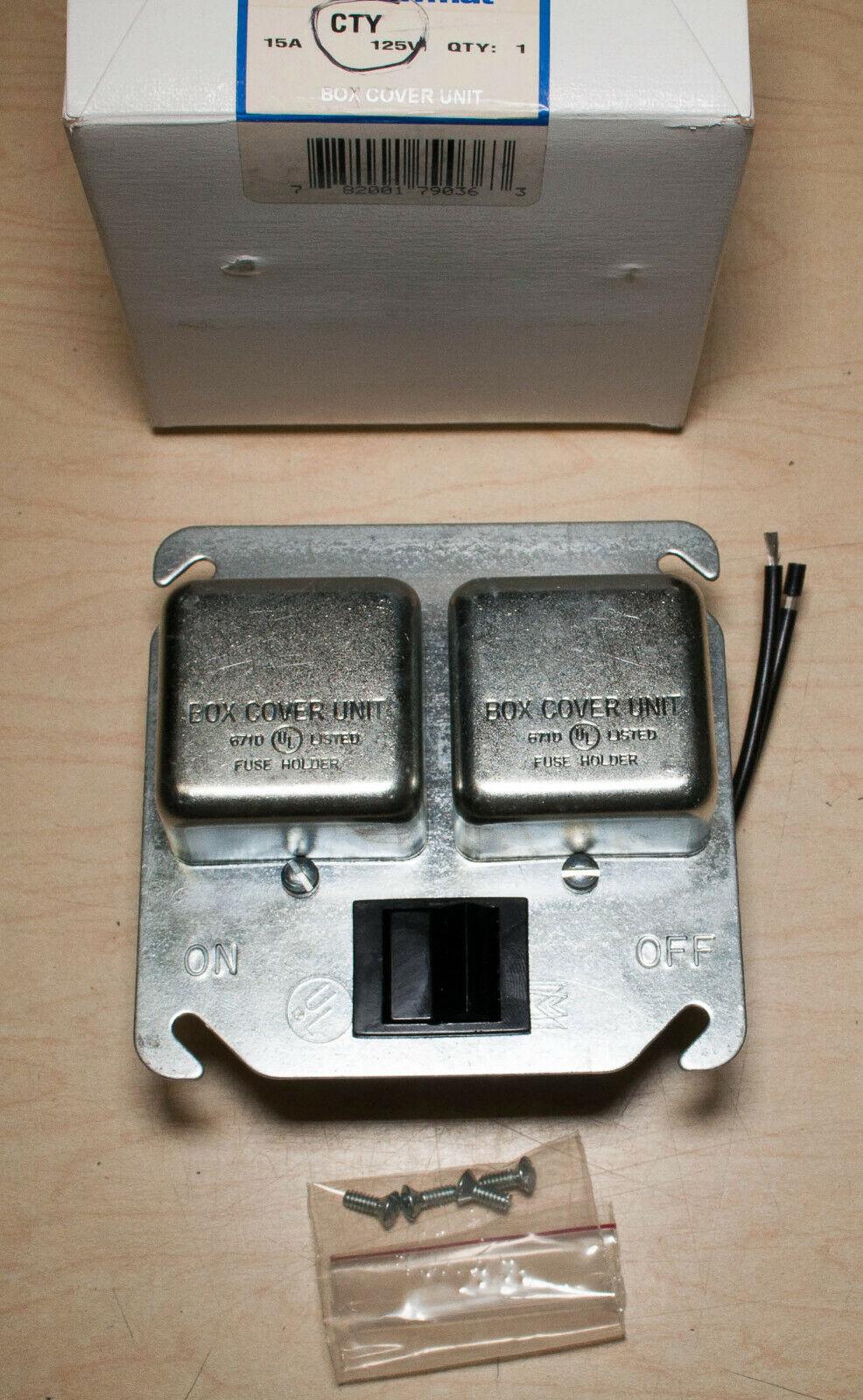 Ferraz Shawmut CTY Box Cover Unit 15A 125V - $49.99