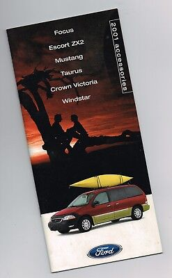 Brochure Catalog Guide - 2001 Ford OPTIONS / Accessories Guide Brochure / Catalog:MUSTANG,ZX2,Rack,Alarm,