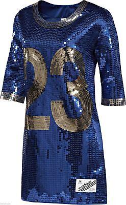small/ S Adidas Originals Jeremy Scott sequin football jersey Dress x36900$450 - Football Jersey Dresses