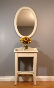 Shabby Chic Pine Table and Mirror