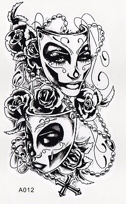 Tattoo Maskenball Karneval Fasching Maske 19x11cm  (A012) (Maske Tattoos)