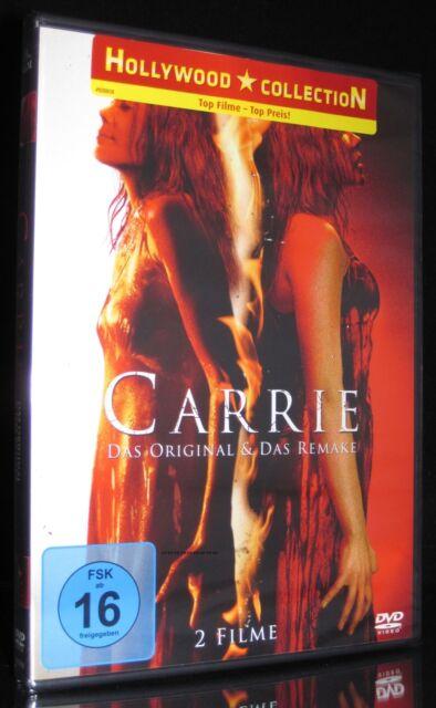 DVD CARRIE - DAS ORIGINAL 1976 + REMAKE von 2013 - STEPHEN KING - SISSY SPACEK *