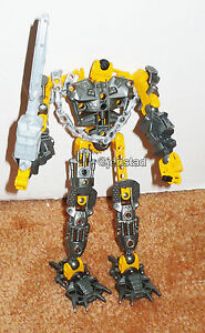 BIONICLE-YELLOW-GREY-LEGO-TOY-7-5-ACTION-ROBOT-TECHNIC-FIGURE-USED-2004