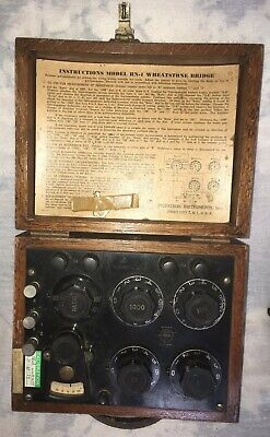 Vintage 1940s Wheatstone Bridge By Industrial Instruments - Model Rn1