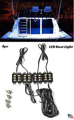 White LED Boat Light Deck Waterproof Bass Night Pontoon Trailer HouseBoat