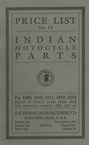 1909-1913-Indian-Motorcycle-Parts-List-Antique-Reproduction