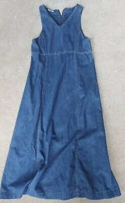 Vintage Laura Ashley denim maxi dress size uk 8/10