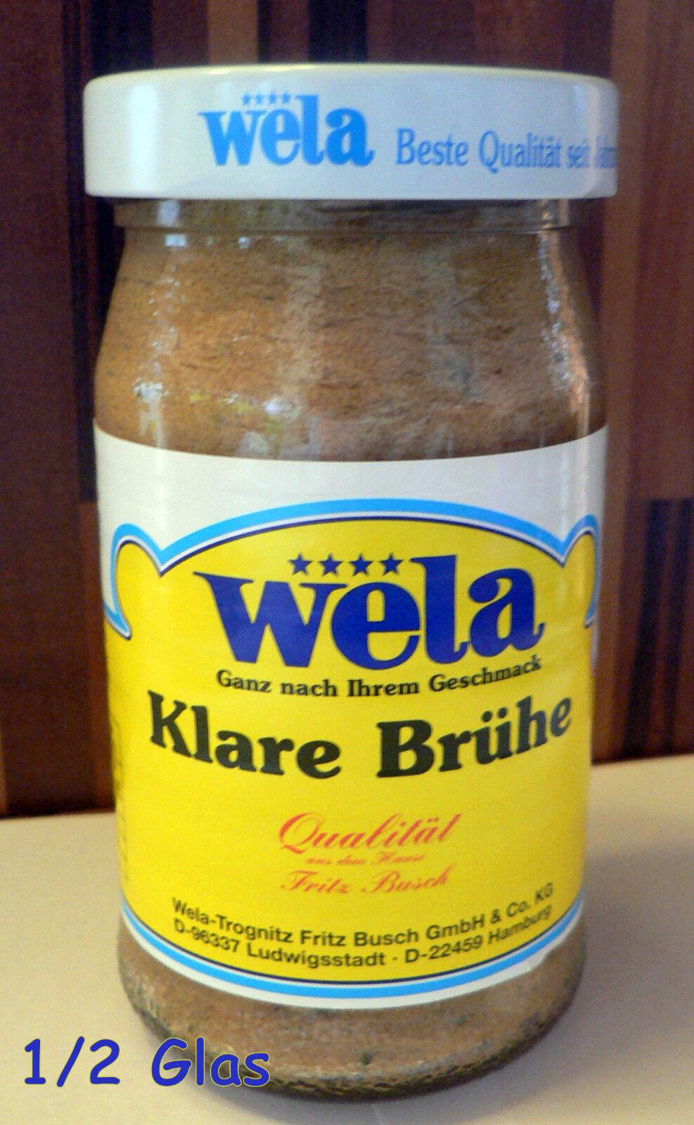 Wela-Klare Brühe hefefrei+glutenfrei+lactosefrei Paste Glas 1/2 für 27,5 Liter