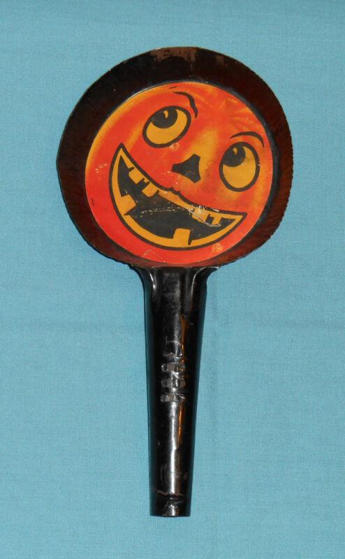 vintage HALLOWEEN NOISEMAKER jack-o-lantern pumpkin jol