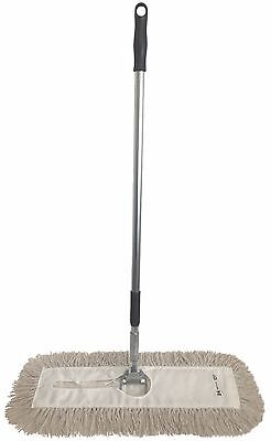 "Dust Mop Kit-36"" White Industrial Closed-Loop Dust Mop, Wire Frame & Handle"