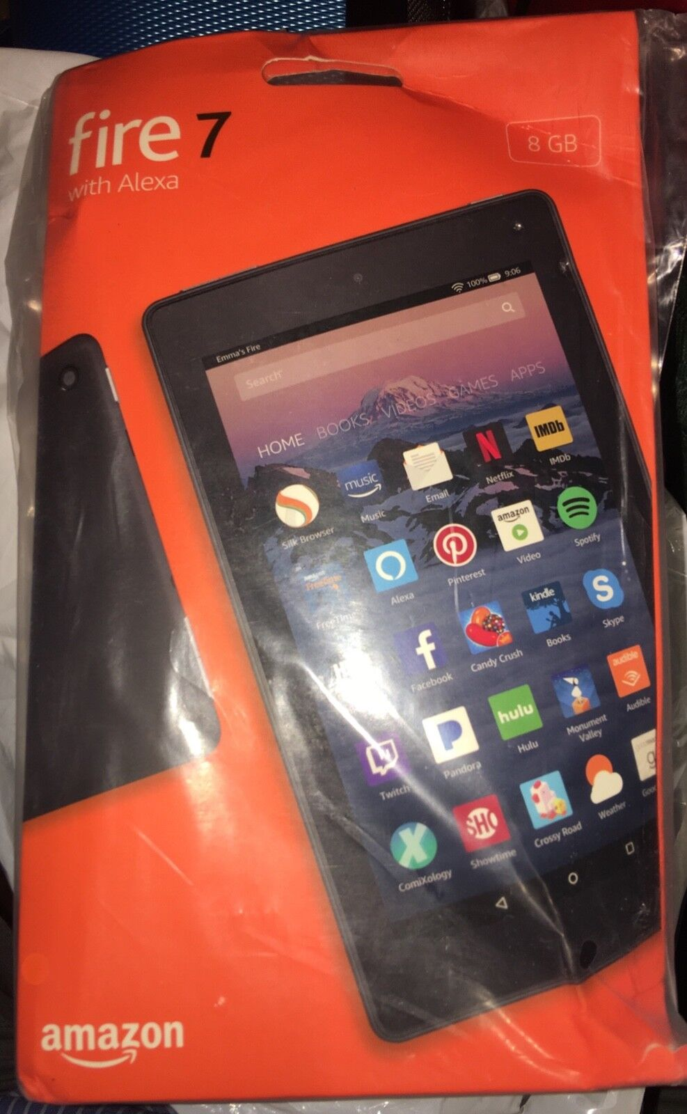 "NEW Amazon Fire 7 Tablet With Alexa 7"" Display 8 GB 7th Generation color Black"