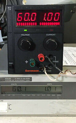 Sorensen Xts60-1 Variable Dc Power Supply 0 To 60v 0 To 1a 60w - Load Tested