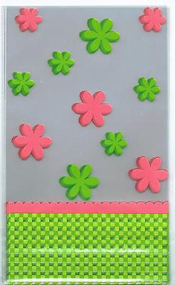 8 Klarsicht Bodenbeutel Motiv Blumen OstertütenTüte Geschenkbeutel  19,0x11,5 cm (Klar, Kleine Geschenk-taschen)