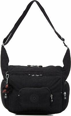 Europa Medium Shoulder Bag, Kipling, Black