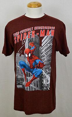 Friendly Neighborhood Spider-Man T-shirt Marvel Superhero Graphic Tee Red NWT