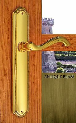 - Door Levers & Plates Chateau Passage Hardware Antique Brass Finish