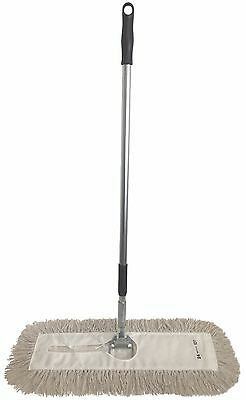 Dust Mop Kit-24 White Industrial Closed-loop Dust Mop Wire Frame Handle