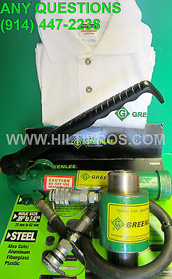 Greenlee Hydraulic Knockout Punch Ram-pump Set Free T-shirt Lkfast Shipping