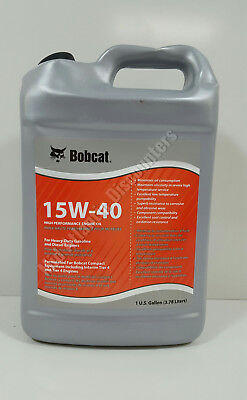 New Genuine Oem Bobcat 7023081 High Performance Engine Oil 15w-40 1 Gallon