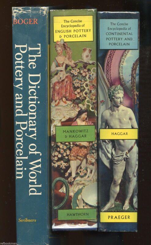 3-Vol. Book Set / Antique World Pottery Porcelain - Types Makers Marks Dates