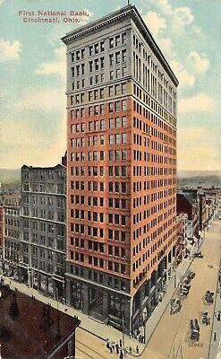 Cincinnati Ohio~First National Bank Corner~Fourth & Walnut Street Buildings~1912 ()