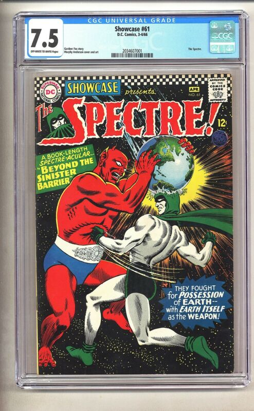 Showcase 61 (CGC 7.5) OW/W pages; The Spectre by Anderson; DC; 1966 (c#25388)