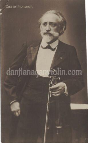 Cesar Thomson photo violin violinist Breitkopf & Härtel