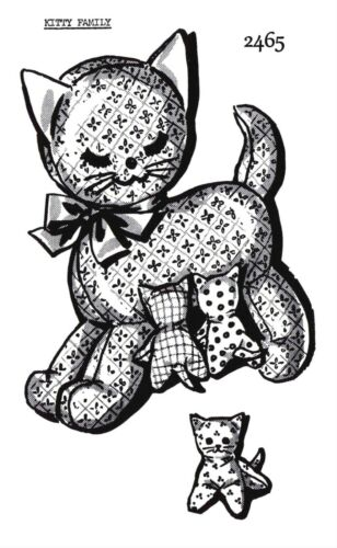 VINTAGE Adorable Kitty Family MOTHER CAT and KITTENS Mail Order SEWING PATTERN