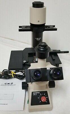 Olympus Ck2 Inverted Microscope 4x 10x 20x 40x Objectives Trinocular Head