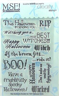 NEW! My Sentiments Exactly! Clear Stamps Y221 Halloween Cards - Halloween Clear Stamps