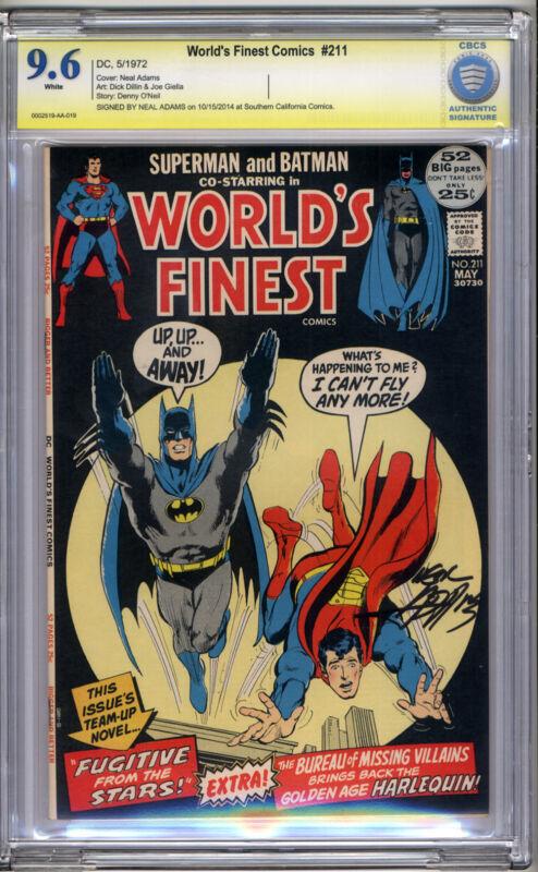 World's Finest #211 CBCS NM+ 9.6 Neal Adams Signature Series Superman Batman