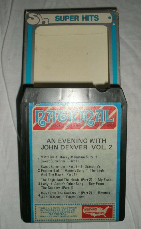 John Denver - An Evening With John Denver Volume 2 - 8 Eight Track Tape