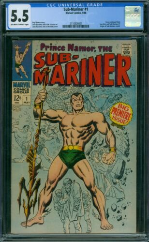 Sub-Mariner 1 CGC 5.5 - OW/W Pages
