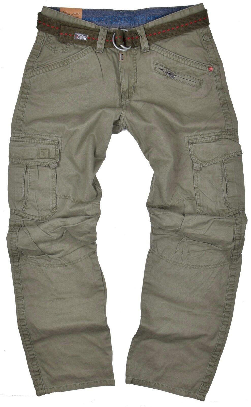 Timezone Herren Straight Leg Hose BenitoTZ Slim cargo pants