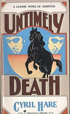 UNTIMELY DEATH By CYRIL HARE Perennial Library PB 1957 1980 1st - Untimely Death