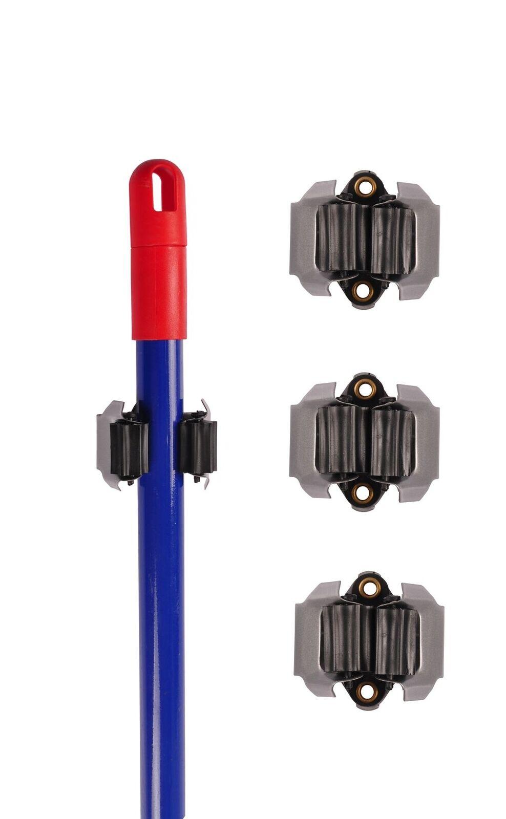 Gerätehalter 3er-Set Wandhalter für Gartengeräte Besenhalter Gerätehalterung