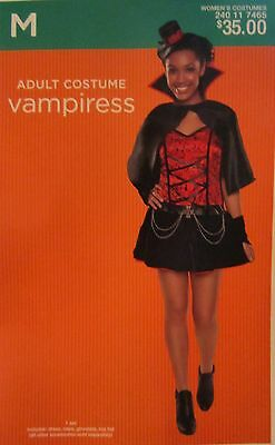 NEW $35 Adult Womens Small 4-6 Vampiress Halloween Costume Dress Up Outfit  (Female Vampire Outfit)