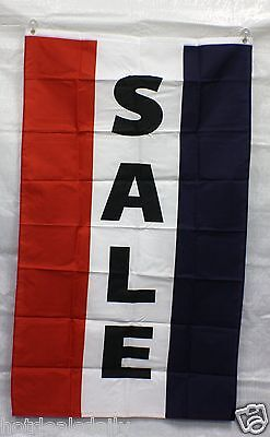 VERTICAL SALE flag 3'x5' banner store concession business advert FREE SHIPPING - Concessions Banner
