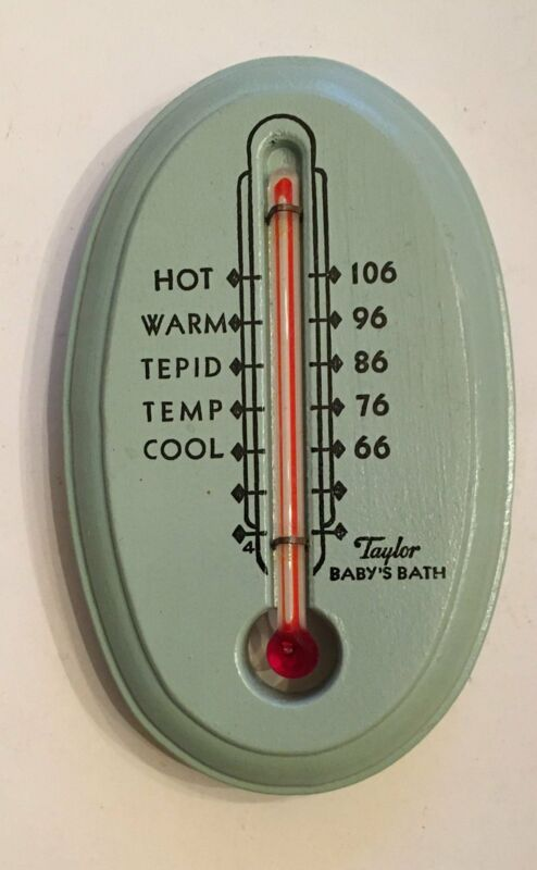 Vintaga Taylor Baby Bath Thermometer - Baby Blue - With Box (1000433)