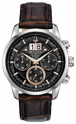 Bulova Brown Chronograph Men Watch Sutton 96B311