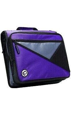 Case-it Universal 2-inch 3-ring Zipper Binder Holds 13 Inch Laptop Purple
