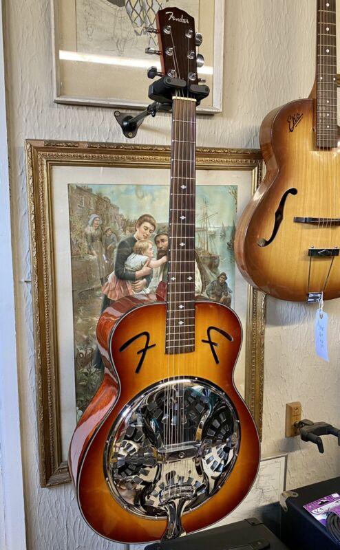 Fender acoustic resonator guitar - sunburst dobro lap steel Superb!