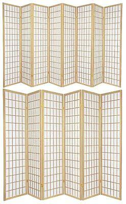 3,4,5,6,8 Panel Japanese-Oriental Style Shoji Screen Room Divider Natural Color - Natural Room Divider Shoji Screen