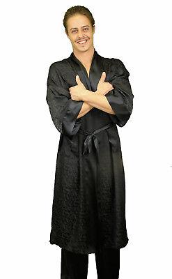 Nyteez Men's Silk Jacquard Kimono Robe, Bathrobe Long or Short