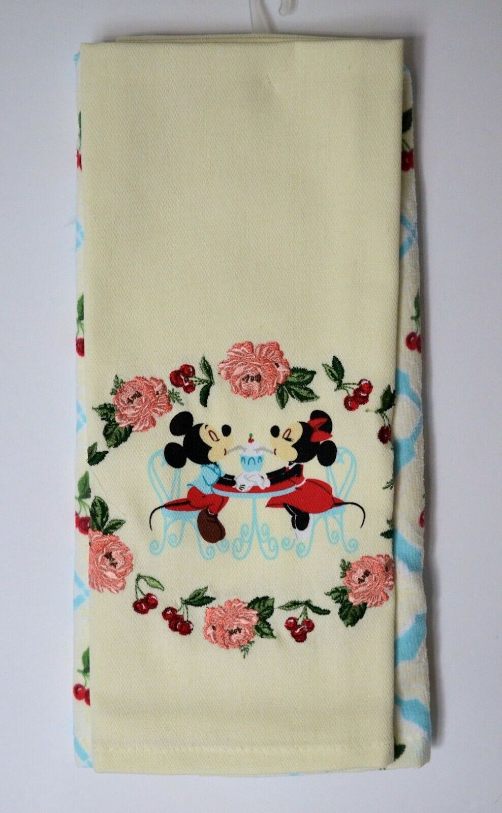 Disney Parks Retro Cherry Minnie and Mickey Kitchen Towel Se